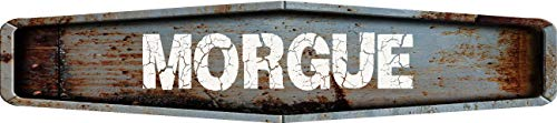 Any and All Graphics Rustic weathered metal look MORGUE 4