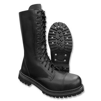 Boots Loch Stiefel Schuhe Stahlkappe Leder Tec Schwarz 14 Ranger Invader Black Mil wqa1XWtfW