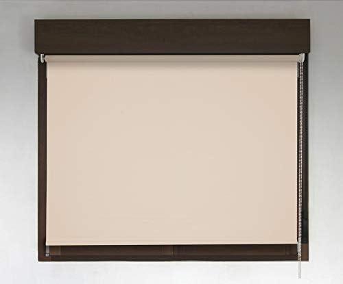 Estor TÉRMICO Opaco Premium (Desde 40 hasta 300cm de Ancho, no Permite Paso de la luz y sin Visibilidad Exterior). Color Beige. Medida 84cm x 200cm para Ventanas y Puertas