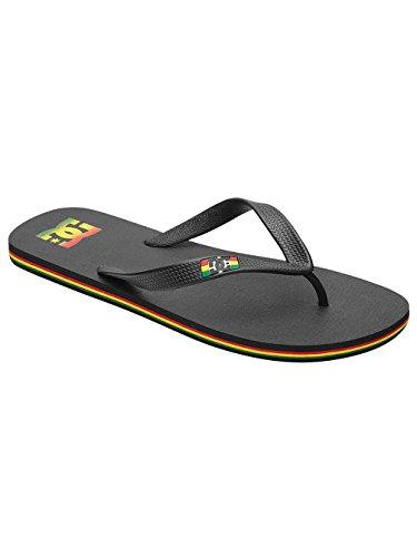 Black Spray Shoes DC Thong M Sandals Rasta Mens 4Y74wqfxA