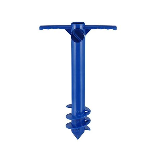Yardwe Picchetto di Supporto per ombrellone Mare Spiaggia in plastica Porta ombrellone da Spiaggia per resistere a Forti… 1 spesavip