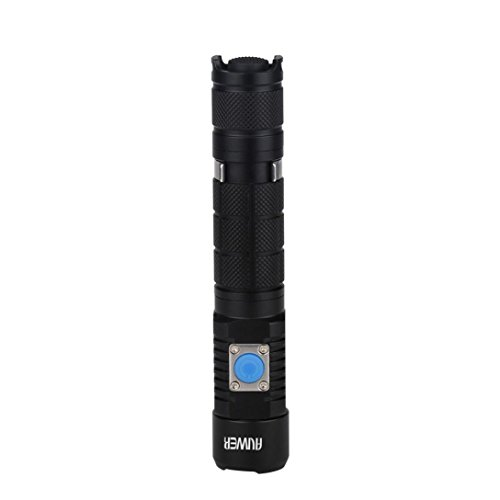OVERMAL A3 Bright 1100 Lumens Rechargeable Flashlight , 200 Meters Long Lighting (Crush Table Lamp 1 Light)