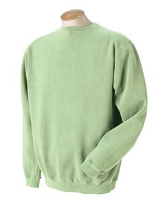 Authentic Pigment 11 Oz. Pigment-Dyed Ringspun Cotton Fleece Crew (11561)- Celery,X-Large