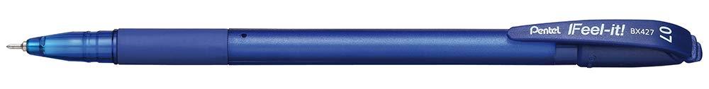 Pentel BX427 Penna Sfera a Cappuccio Blu Taschina 8 pezzi 0.7 mm