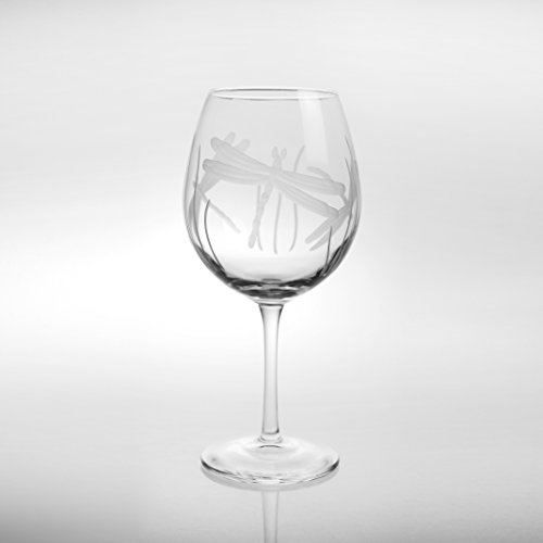 Etched Balloon Wine Glass - Dragonfly Balloon Red Wine Glass (Set of 4)