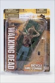 2012 the Walking Dead Series Two Bicycle Girl Zombie Action Figure NEW Rare!!! Hot!!!