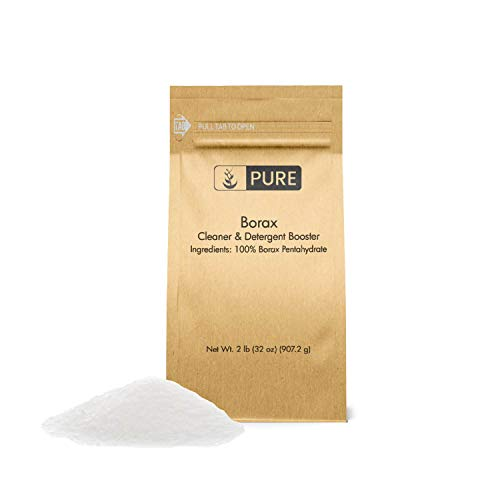 Borax Powder (2 lb.) by Pure Organic Ingredients, Pure Borax, Multipurpose Cleaning Agent, Ideal Slime Ingredient
