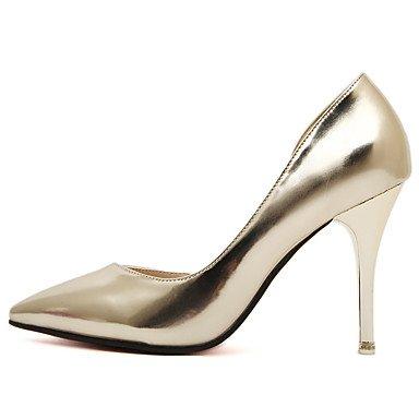 Le donne eleganti sandali SEXY DONNA PRIMAVERA tacchi altro brevetto pelle vestito Stiletto Heel altri nastro oro , argento , us6 / EU36 / UK4 / CN36