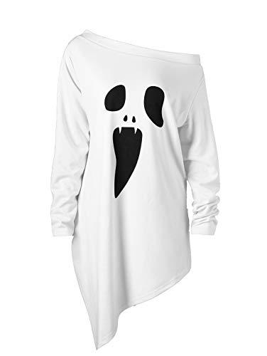 BELLEZIVA Ladies Halloween Jumper Blouse Fashion Casual Slash