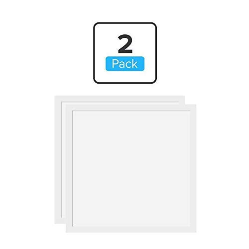 2x2' LED Panel 40W Edge-Lit (Replaces 150W), 0-10V Dimmable 24x24 in LED Drop Ceiling Panel, 120° Beam Angle, 4000 Lumens, 5000K, 100-277Vac, ETL, DLC Listed, 5 Years Warranty by LEDMyplace - Lit 277 Edge Volt Led