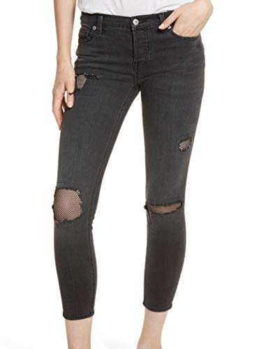 - Free People Women's Fishnet Skinny In Black Black 24