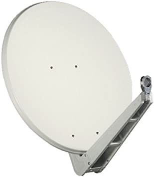 Antena Gibertini 75 cm Alu Gris claro SE Serie con soporte de ...