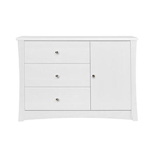Storkcraft Crescent 3 Drawer Combo Dresser, White by Stork Craft (Image #3)