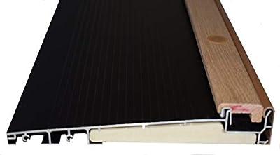 """Exterior Inswing Threshold - Hardwood Cap- 7 13/16"""" Wide x 36"""" Length- in Dark Bronze"""