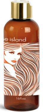 Paradise Island Shampoo 16 oz, Sulfate Free, High Lathering, No Parabens, Phthalates, Dyes, Endocrine Disruptors, SLS Free, Vegan, Natural (Coconut 16 oz)
