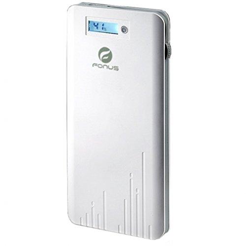 Amazon com: 6000mAh Power Bank White Slim Portable Charger