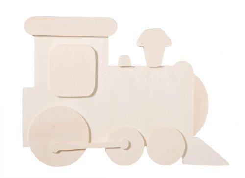 - Darice 9189-01 Chunky Layered Wood Cutout, Train, 10mm
