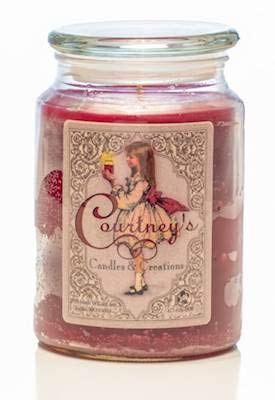 Courtney's Candles Mulberry Maximum Scented 26oz Large Jar Candle ()