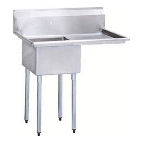 S/S One Compartment Sink w/Right Side Drain Board, 18 gal -  Turbo Air, TSA112R1