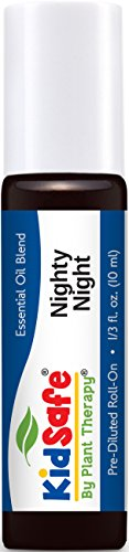 Plant Therapy KidSafe Nighty Night Synergy Pre-Diluted Essential Oil Roll-On. Ready to use! 100% Pure, Therapeutic Grade Essential Oils Diluted in Fractionated Coconut Oil. 10 ml (1/3 oz).