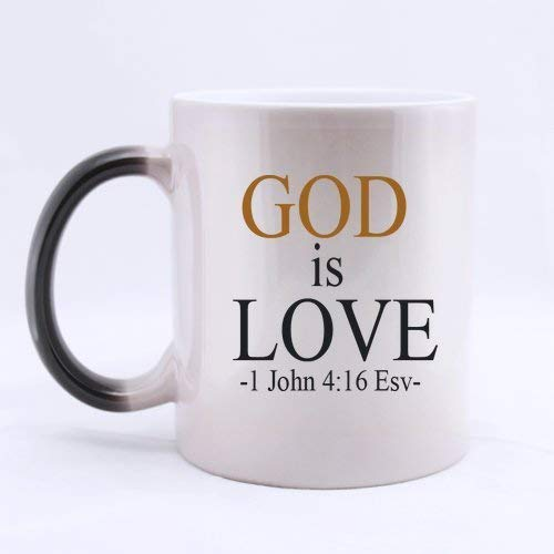 Halloween's Day Gifts Church Gifts Christian Gifts God is love -1 John 4:16 Esv- Bible Quotes 100% Ceramic 11-Ounce Morphing Mug