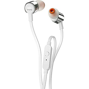 JBL T210 Pure Bass in-Ear Headphones with Microphone - White