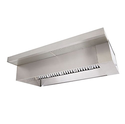 Exhaust Canopy Hood (4' Commercial Kitchen Exhaust Hood Vent for Restaurants – Type 1 for Grease Exhaust)