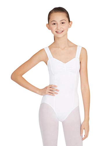 Capezio Women's Princess Tank Leotard, White, ()