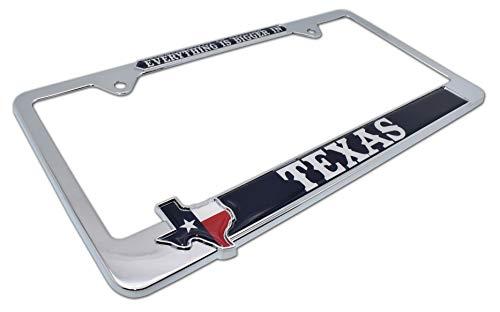 Elektroplate Bigger in Texas Metal License Plate Frame (License Plate Frames Texas)