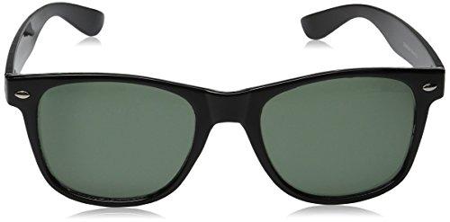 ZeroUV ZV-8452jk Wayfarer Sunglasses, Black/Tortoise, 54 mm