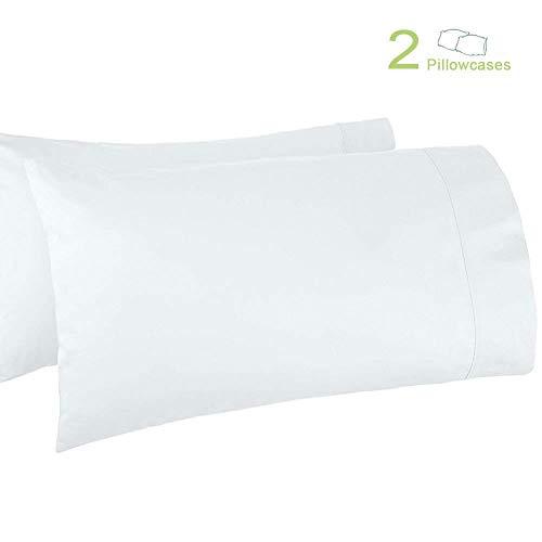 (Haperlare 2-Pack 100% Egyptian Cotton 800 Thread Count Pillowcases Premium White Cotton Pillowcases, Queen Pillowcase Pillow Covers, 20 x 30 inch)