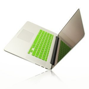 (TOP CASE Lime Green Keyboard Silicone Cover Skin Compatible with MacBook Pro 13
