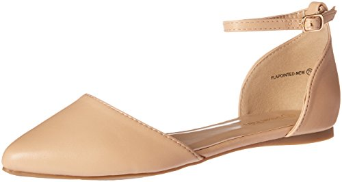 Pump Nude DREAM PAIRS Polyurethane Flapointed Women's New XwxxIngqf