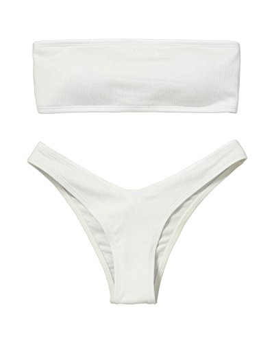 19cd6a0176 ZAFUL Women Bandeau Bikini Set Swimsuit Leopard Print High Cut Swimwear  Bathing Suits - Buy Online in UAE. | Apparel Products in the UAE - See  Prices, ...
