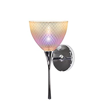 WAC Lighting WS58LED-G546DIC//RB Ambrosia LED Wall Sconce with Glass Dichroic//Rubbed Bronze One Size