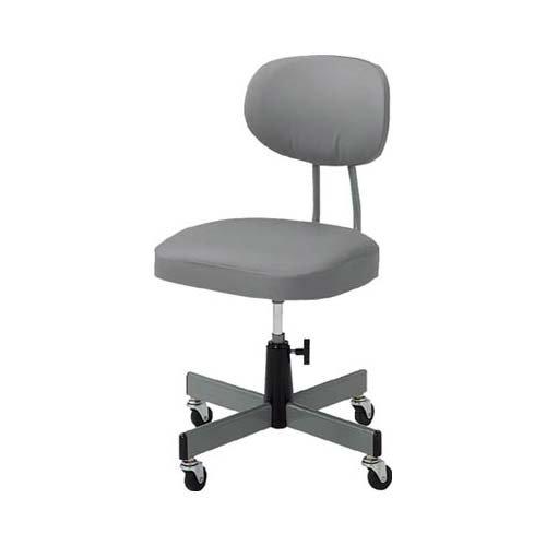 TRUSCO(トラスコ) 事務椅子 ビニールレザー張り グレー T80 B00264U3PA