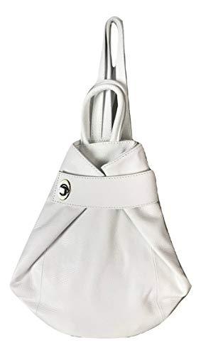 LaGaksta Stella Italian Leather Backpack Purse White