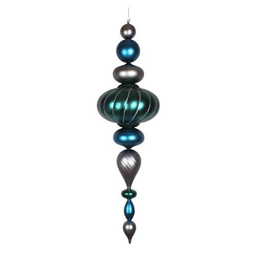 Vickerman 377550 - 45'' Sea Blue / Pewter / Teal Matte Jumbo Finial Christmas Tree Ornament (M154277) by Vickerman