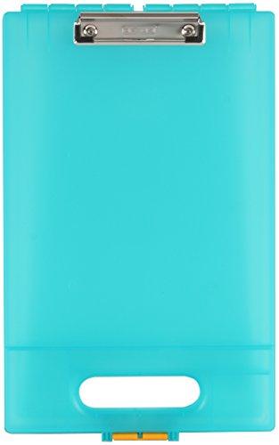 Aquamarine Clip - Dexas Office Clipcase Storage Clipboard, Aquamarine