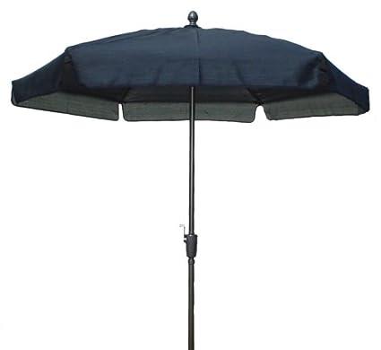 FiberBuilt 76RCRAT BLK 7.5 Foot Garden Umbrella, Black