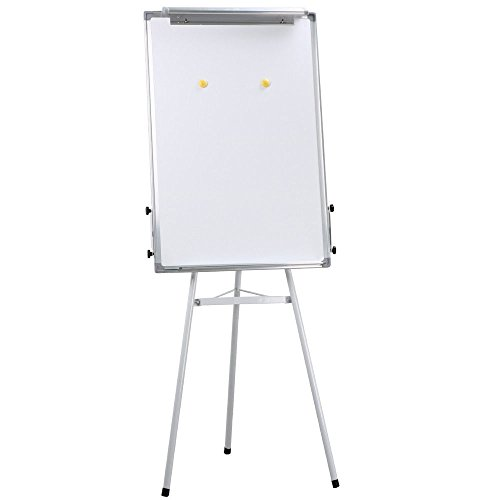 Universal Telescopic Tripod Dry Erase Presentation Easel, White Board, w/2 Hooks + FREE E-Book by Eight24hours