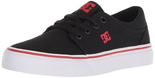 DC Boys' Trase TX Skate Shoe, Black/Athletic RED, 3.5 M US Big Kid
