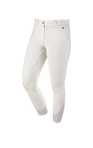 Dublin Supa-Fit Zip Up Gel Full Seat Breeches White Ladies 10/28