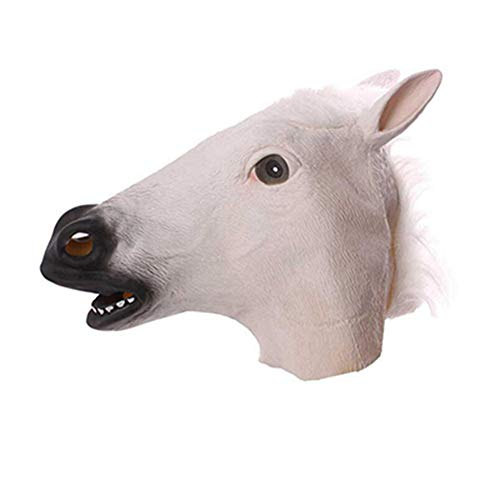 WEIZHUANGZHE Horse Mask Halloween Horse Head Mask Latex