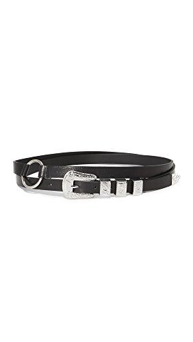McQ - Alexander McQueen Women's Solstice Double Wrap Belt, Black, Small by McQ Alexander McQueen