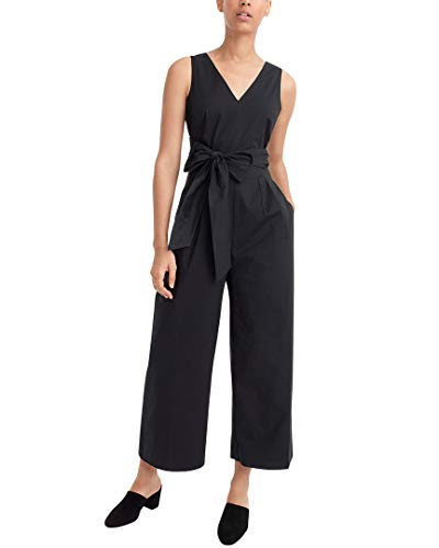 J.Crew Women's Dark Matter Jumpsuit Stretch Poplin Black -