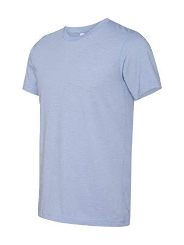Bella Canvas Womens Super Soft Athletic Yoke T-Shirt (3001C) -Heather BL - Soft Yoke