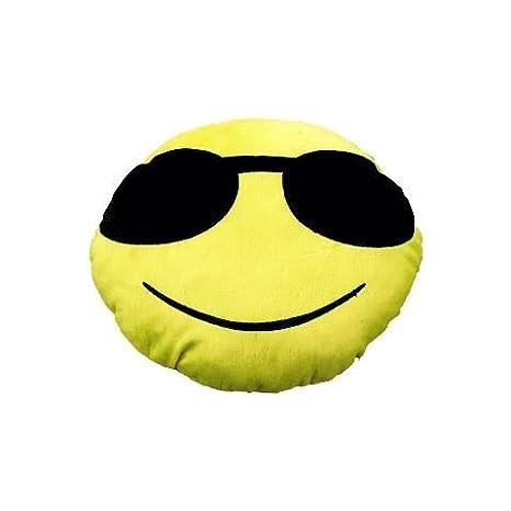Yal emoji-sunglasses gafas de sol Emoji Plush Pillow: Amazon ...