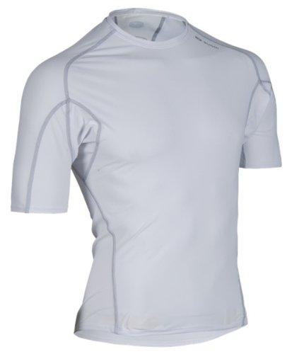 - Sugoi Men's Piston 14 Short Sleeve Tee (White, Medium)