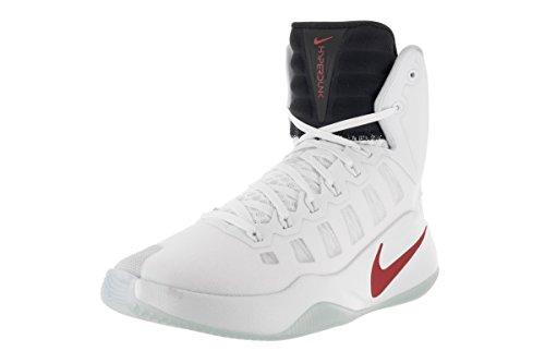 Nike Hyperdunk 2016, Zapatillas de Baloncesto para Hombre Blanco (White / Bright Crimson-Dark Obsidian)